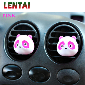 OVERE 1Pair Car Air Outlet Perfume Panda styling For Lada Toyota Corolla c-hr Avensis RAV4 Auris Honda Civic Accord Fit CRV image