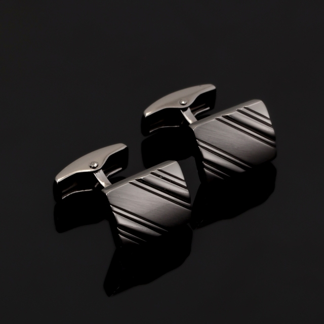 Luxury Laser Engraved Check Design Cufflink 18 Style Mens Cuff Buttons Links High Jewelry