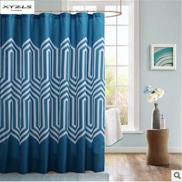 XYZLS New Arrival Geometric Pattern Waterproof Shower Curtain Home