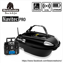BearCreeks Navitec Professional V2 Carp Fishing Bait Boat Futterboot with GPS Autopilot 500M Wi-fi RC Distant Management 2000G Lure Load