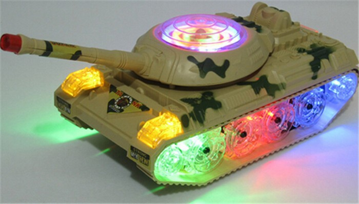 Army Tank Moving LED Tank Toys With Light Sounds Boy/Girl Wheel Lights Tank Panzer Rc Radio Xmas Gift Party Fun Kid Child Toy