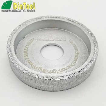 diatool dia75mmx30mm hand held grinding wheel vacuum brazed diamond flat grinding wheel profile wheel for stone artificial stone DIATOOL Dia75mmX15mm Vacuum Brazed Diamond Flat Grinding Wheel Profile Wheel For Stone Artificial Stone Ceremics Glass Concrete
