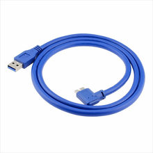 High Speed USB 3.0 to 90 Degree Right Angled Micro B Cable for Mobile Hard Disk USB 3.0 Cable line 60cm/100cm(China)