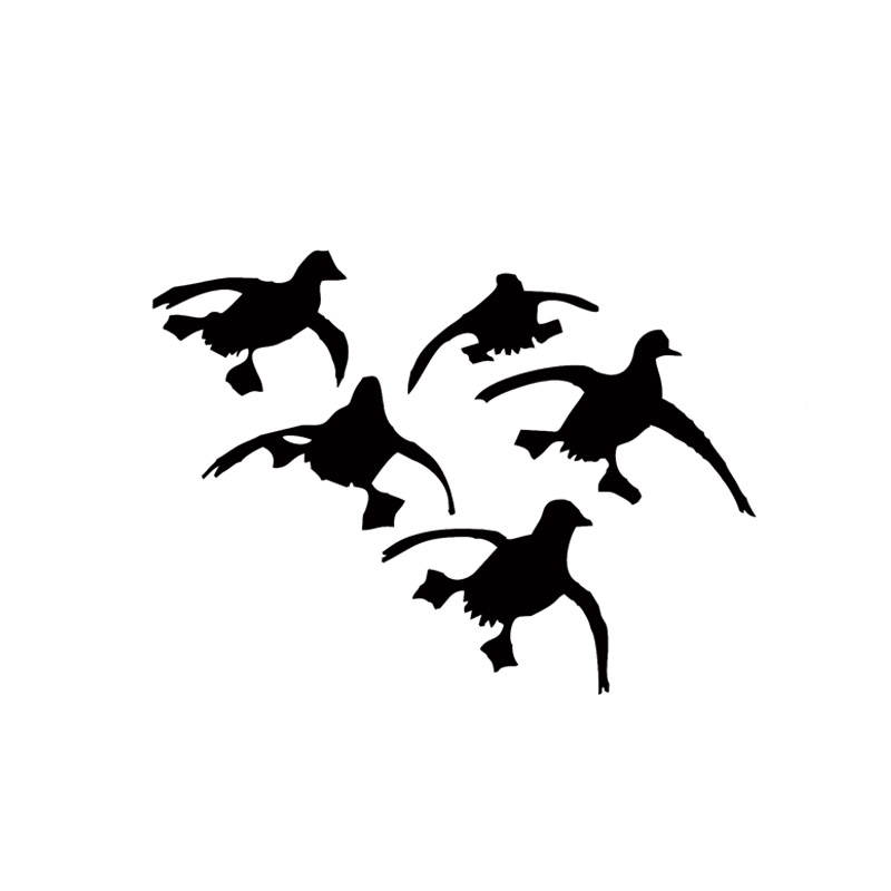 Popular flying ducks decal buy cheap flying ducks decal for Duck hunting mural