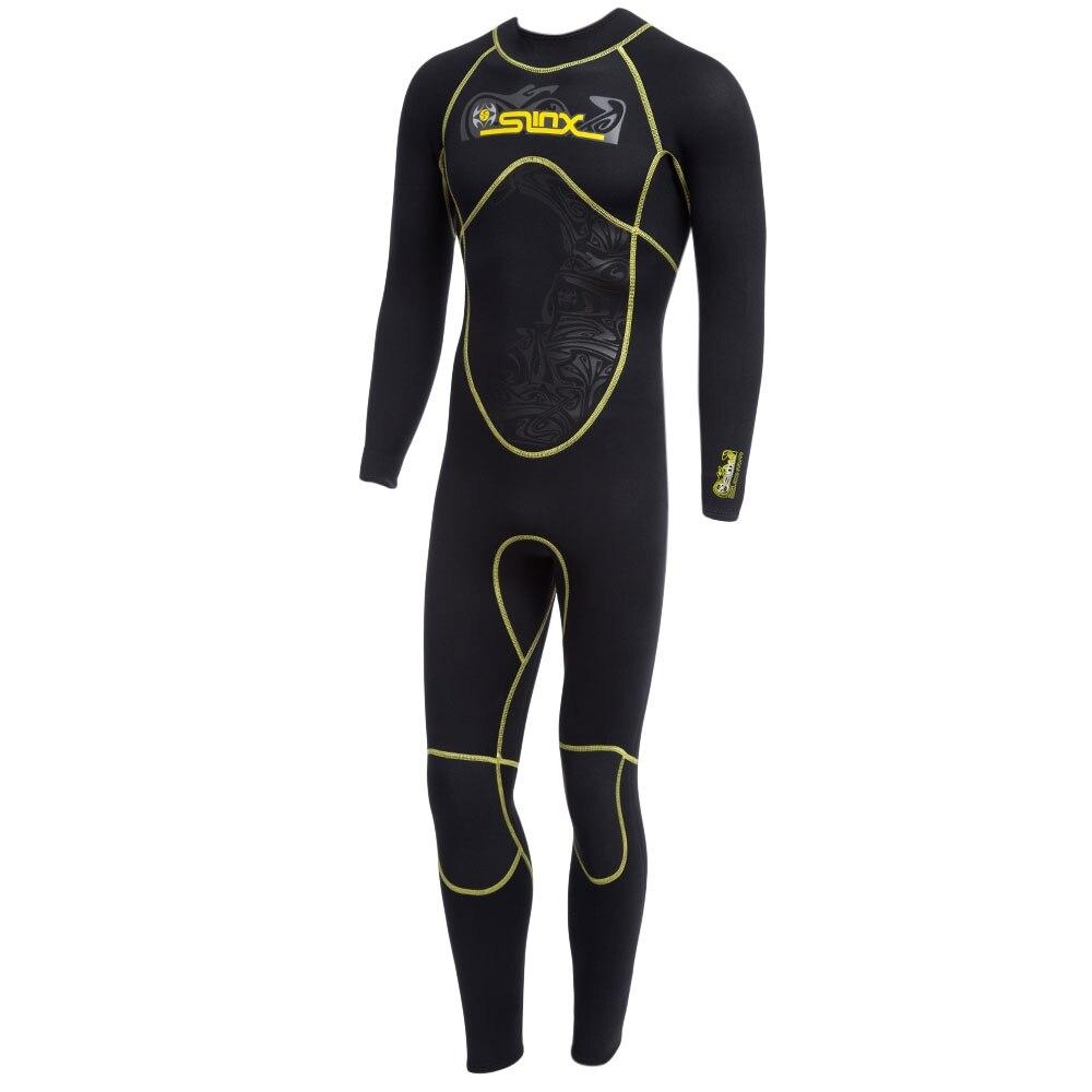 Men 3MM Diving Suit Long Sleeve Full Body Sunblock Wetsuit for Water Sports Elastic Material Nylon Black Diving Suit mylegend men 3mm diving suit long wetsuit diving suit sleeve full body sunblock wetsuit for underwater sport wetsuit