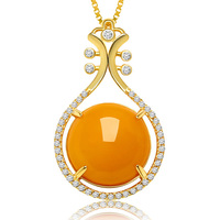 Pure S925 Silver Natural Beeswax Pendant With Certificate