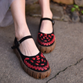 2017 Original Primavera Sapatos Feitos À Mão Do Vintage Fivela Mulheres Sapatos Asakuchi À Prova D' Água Sapatos de Couro Genuíno 1782