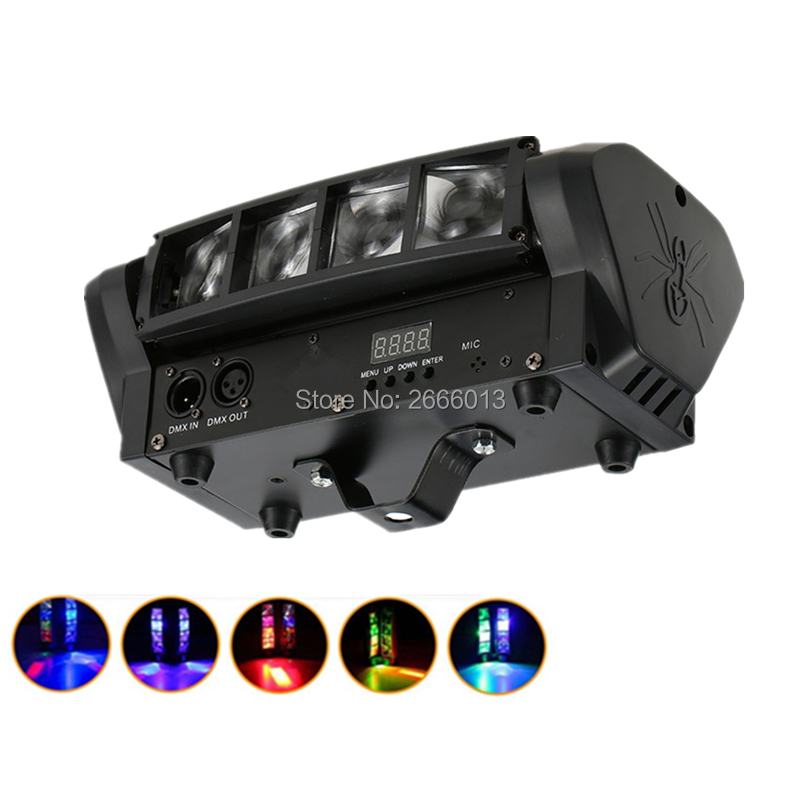 Niugul Mini LED Beam Spider light/8x10W RGBW Moving Head Lighting/LED Spider Light /DJ Beam Moving Head Lights For Home Party niugul led moving head light mini led spider light 8x10w led beam dj disco rgbw dmx512 effect lighting christmas holiday lights