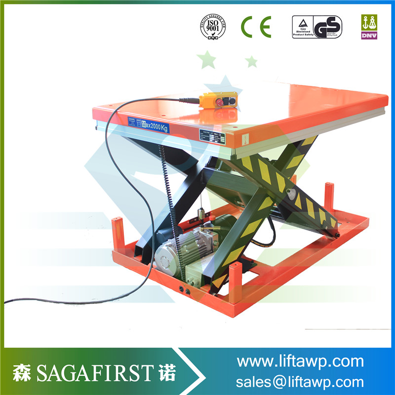 CE1ton Electric Static Scissor Lift Platform Table Hydraulic Scissor Lift