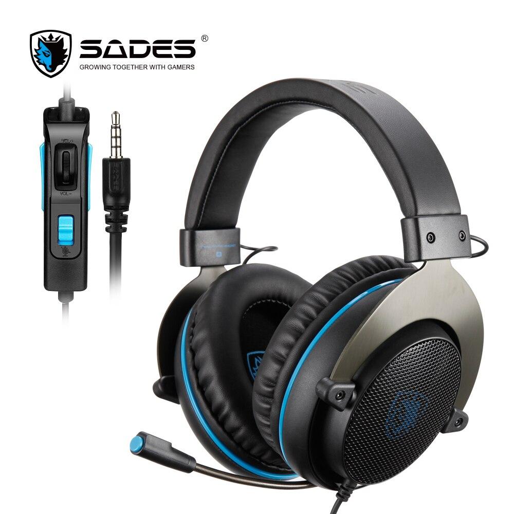 SADES R3 игровая гарнитура 3,5 мм бас объемный звук наушники с y адаптером для PS4/Xbox one/PC/Phone Наушники и гарнитуры      АлиЭкспресс