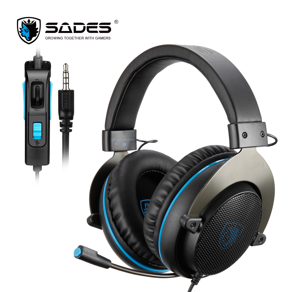 SADES R3 Gaming Headset 3.5mm Bass Surround Sound Headphones with Y Adapter for PS4/Xbox one/PC/Phone
