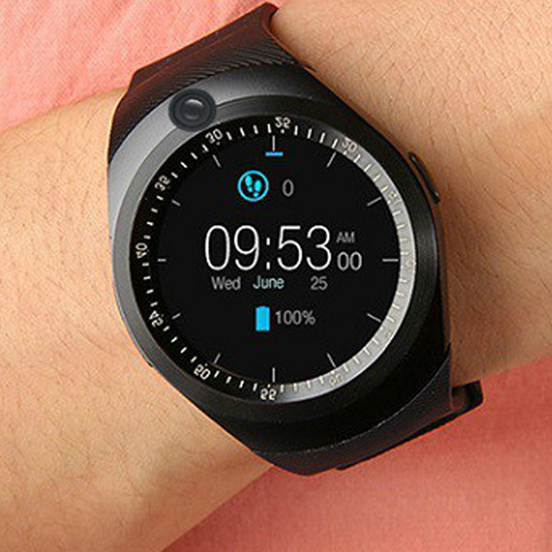 HATOSTEPED New Round Smart Watch Bluetooth Student QQ Camera sports Music Clock