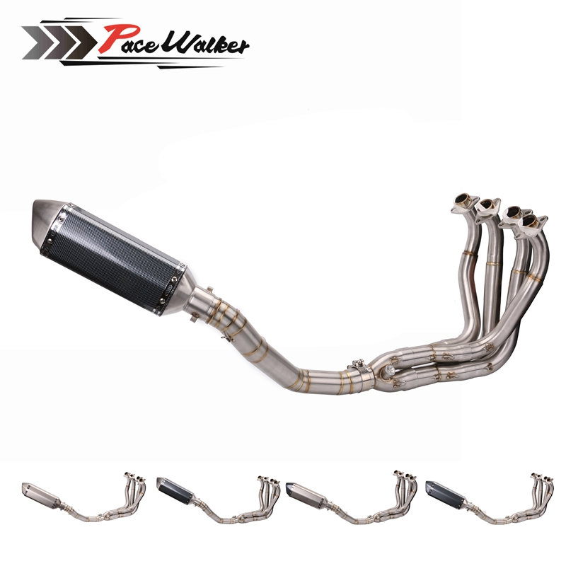 35-51MM Universal motorcycle racing Exhaust Modified FOR Escape Muffle pipe+exhaust muffler front connecting rod escape tube con
