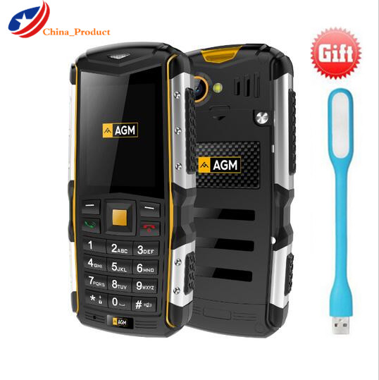 Gift AGM M1 IP68 Waterproof 2570mAh 2 0 3G Mobile Phone 2 0MP Dual SIM Dual