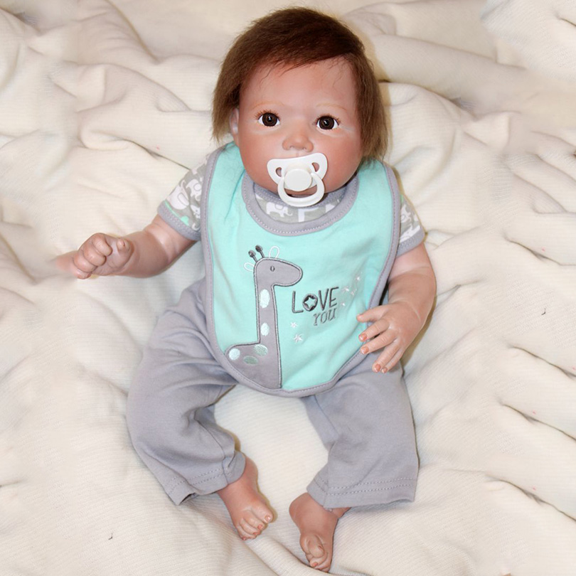 Silicone Realistic Dolls High Quality Lifelike Cute Babe Dolls Handmade Toys Bedtime for Baby Boys and Girls Soft 50cm Dolls ...