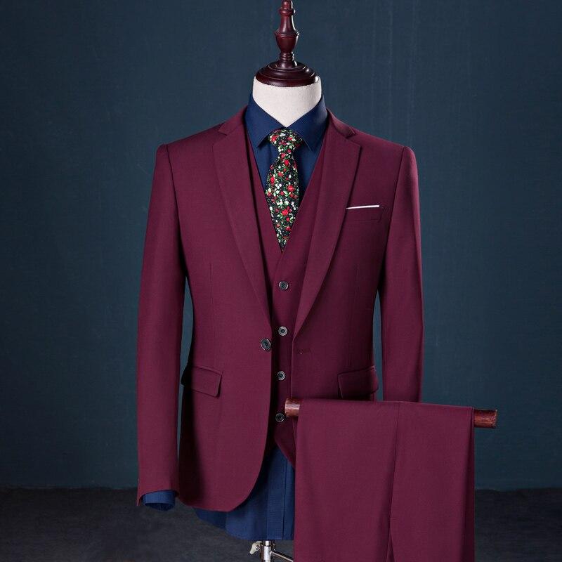 Mens Business Suit 2018 Latest Jacket Vest Pant 3 Piece ...