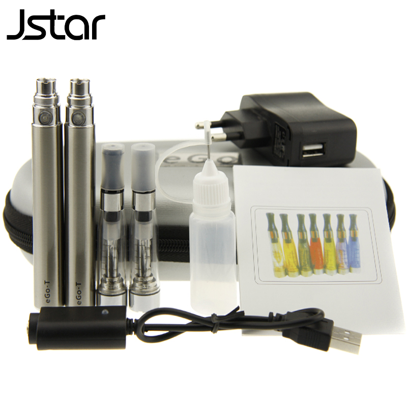 Jstar Ce5 ego starter kit with ego t battery E cigarette 1.6ml no wick Ce5 Vaporizer Ego t Double Zipper Case e-cigs kits