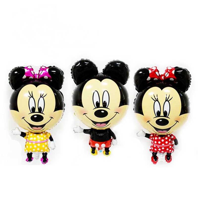 85 เซนติเมตร Big Mickey Mouse Minnie บอลลูนอาบน้ำเด็ก Mini หัว Mickey บอลลูน Stick วันเกิดเด็กของขวัญเด็ก