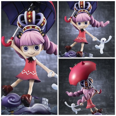 NEW hot 17cm One Piece Perona childhood Halloween Action figure toys collection doll Christmas gift with box new hot 14cm pikachu gary oak okido green eevee action figure toys collection christmas gift doll with box