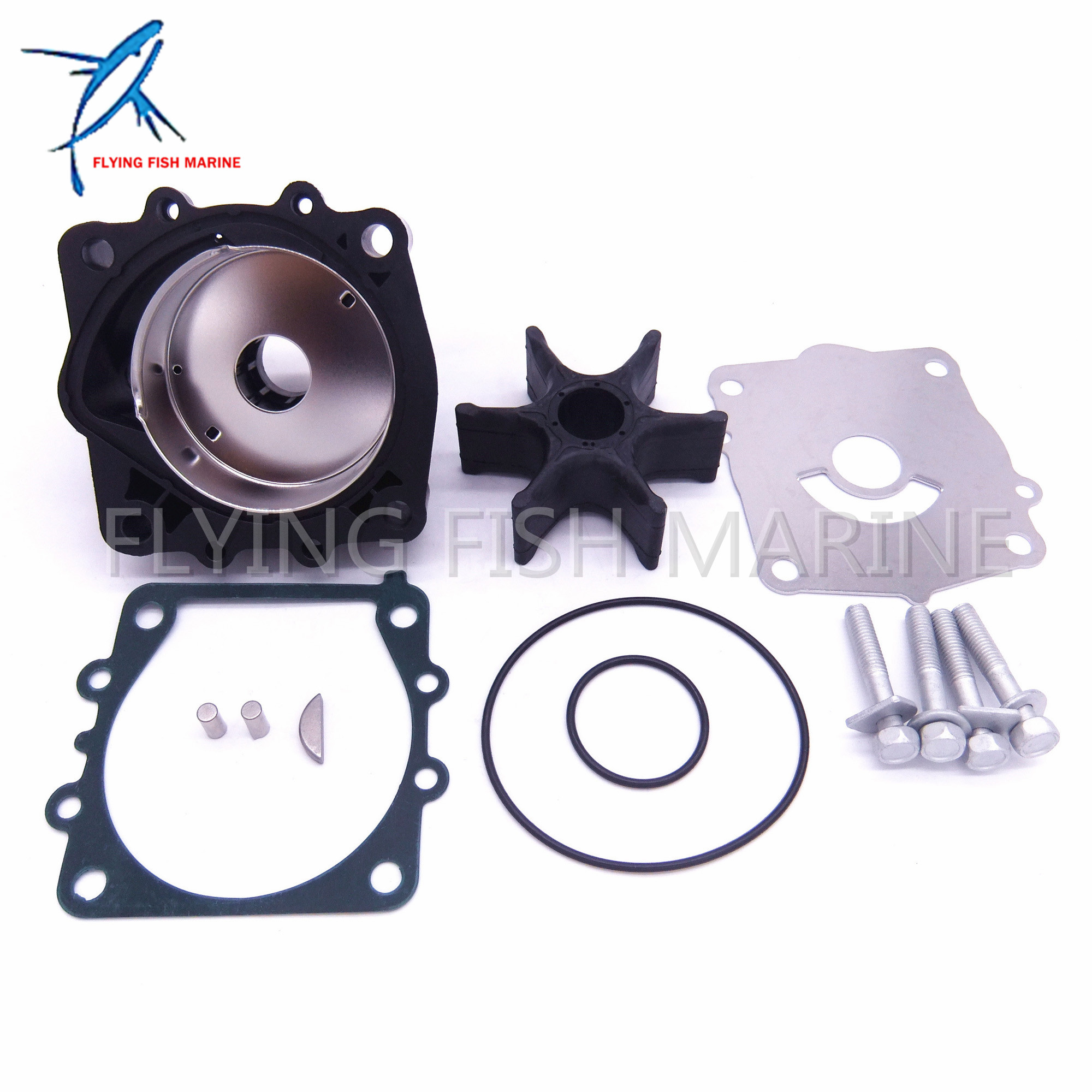 Outboard Motor 68V-W0078 68V-W0078-00 Water Pump Kit For Yamaha 115HP F115 Boat,Free Shipping 67h 43880 00 new tilt trim motor for yamaha 115 225 hp 1997 2002 outboard engine power motor 64e 43880