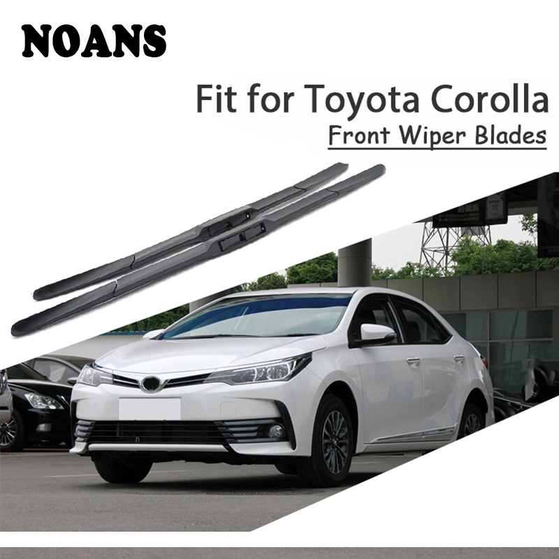 NOANS Car Styling Wiper Blade For Toyota Corolla 2013 2012 2011 2010-2001 Front Windshield Original Cleaning Strips Accessorie