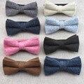 100% Wool Men's Bowtie 6cm Solid Bow Ties For Men Wedding Party Shirt Dress Accessories Christmas Gifts Gravata Cravate