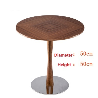 Nordic minimalist solid wood creative small table sofa side table round coffee table coffee table