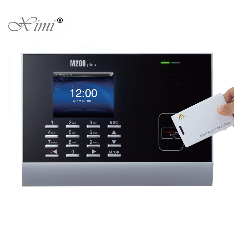 ZK M200Plus 125KHZ RFID Card Biometric Time Attendance With Smart Card Time Recorder EM Card Time Clock Employee Attendance