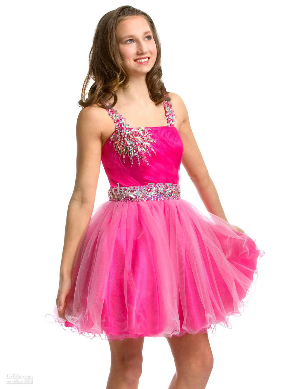 dress - Party pink dresses for juniors video