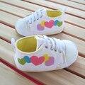 Новый 2016 весна осень детская обувь детские обуви малыша девочки не - скольжения мягкой подошве обуви холст новорожденных prewalker свободного покроя обувь