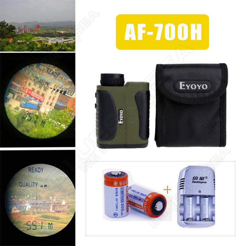 Free shipping Golf Laser font b rangefinder b font Range Finder Scope 6x25 600m 700 yards