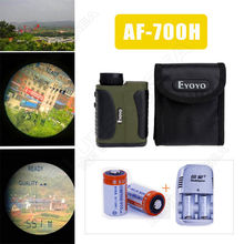 Free shipping!Golf Laser rangefinder Range Finder Scope 6×25 600m / 700 yards Optics Speed+Battery