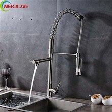 Хорошая цена на бортике кухонный кран Поворот на 360 градусов носик кран горячей холодной водопроводной воды