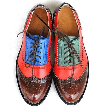 21 Colors New 2016 Women s Genuine Leather Oxfords Vintage Casual Single Shoe Spring Autumn Women