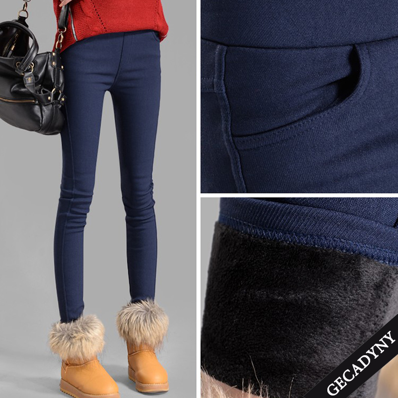 2018 Hot Sale Thicker elastic trousers autumn winter women pants velvet thickening   leggings   trousers female warm pencil pants