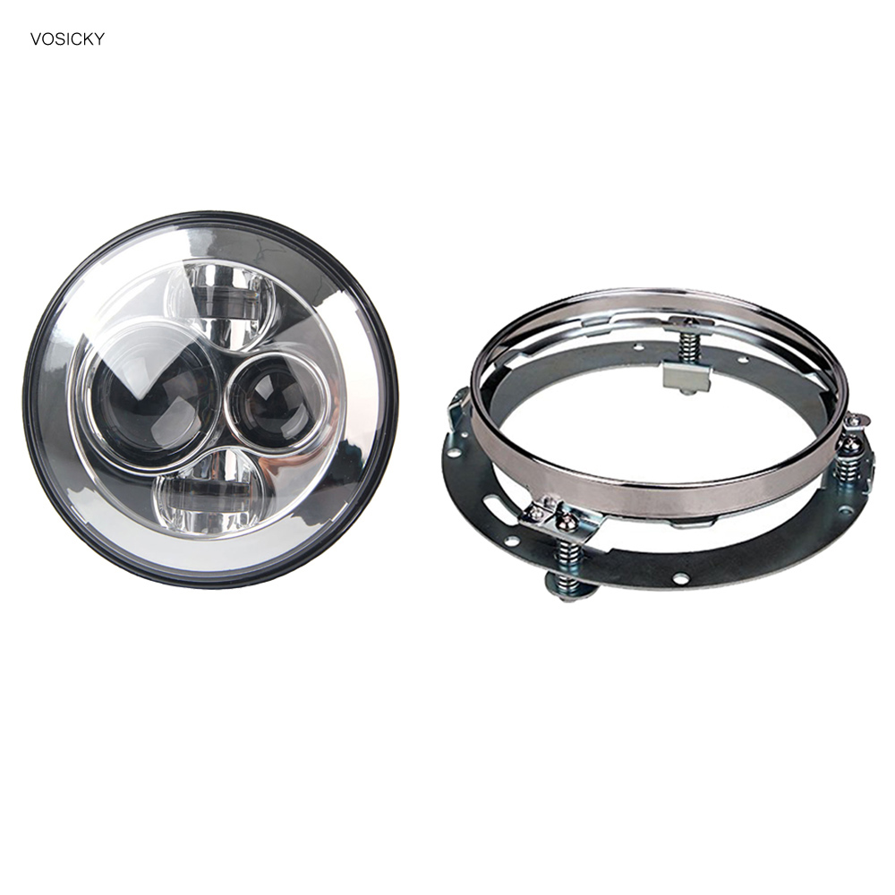 VOSICKY 7 inch Round Headlights Led Daymaker with bracket ring For Jeep Wrangler 97-15 Hummer Toyota Motorcycle Headlamp vosicky 7 inch round headlights led daymaker with bracket ring for jeep wrangler 97 15 hummer toyota motorcycle headlamp
