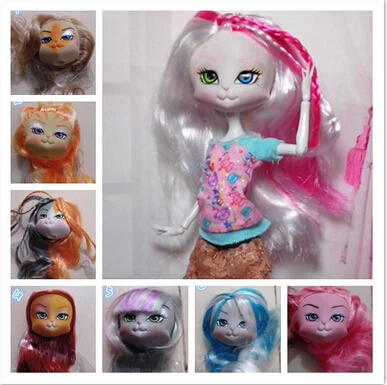 20Pcs lot High Quality LANARD Kitties Doll Head Mixed Colors Cat Heads For 1 6 Dolls