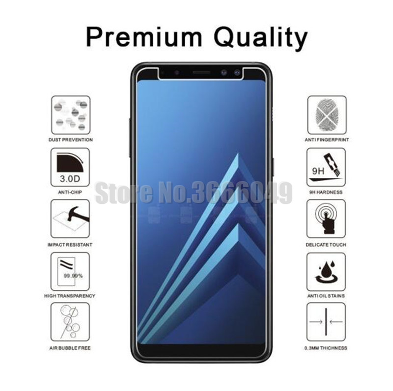 100 lot 9H Screen Protectors Film Phone Tempered Glass For Samsung A3 A5 A7 J2 Pro