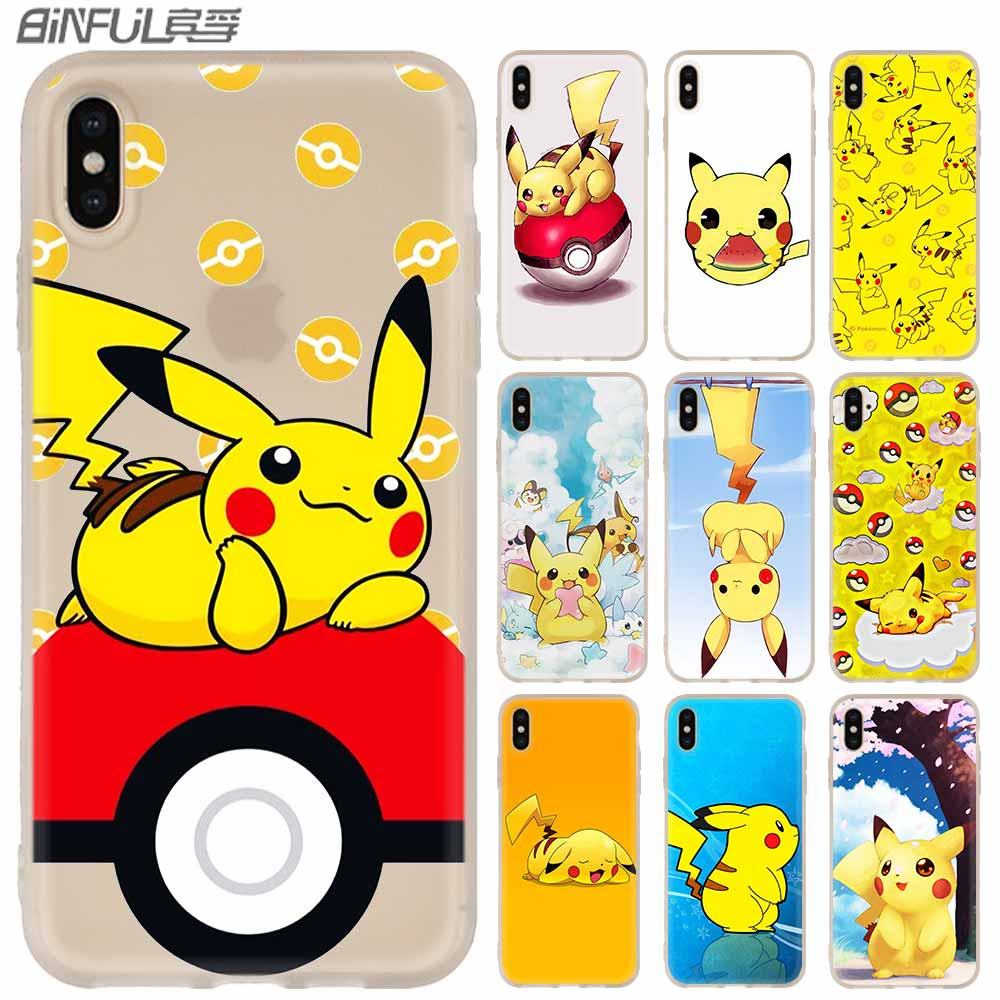 MLLSE Pikachues Silicone Case FOR iPhone compatible 10 X