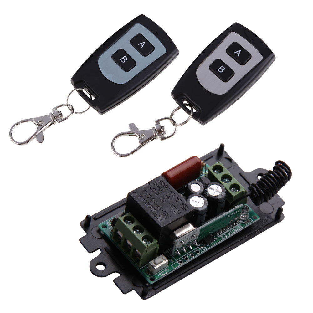 2pcs 1 Channel 220V 10A Smart Remote Control with 315MHz Wireless Relay Remote Control Switch RF Learning Code