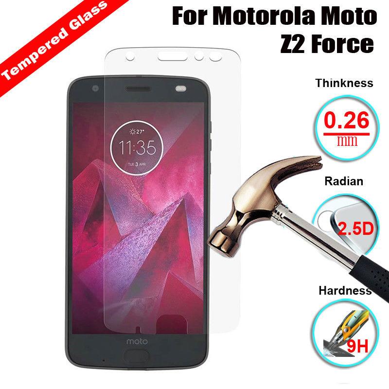 9H Screen Protector Film Tempered Glass Case For Motorola Moto Z2 Z3 Play G6 G5S Plus G G2 G4 G5 X X4 C E E2 E4 E5 G7 Power
