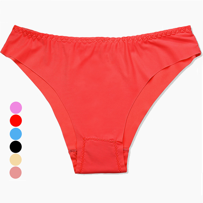 Plus Size   Panty   Low Rise Briefs for Women Color Cotton Lingerie Bikini Breathable Sexy   Panties   Seamless Girl Comfort Underwear