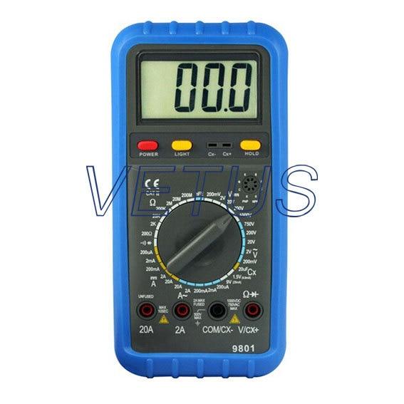 20uF Manual Range Digital Multimeter DMM HP-9801 HP9801 mini multimeter holdpeak hp 36c ad dc manual range digital multimeter meter portable digital multimeter