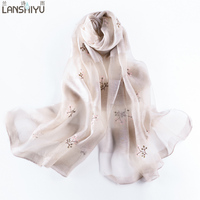He Hangzhou Dual Purpose Tippet Scarf Of Trendy Real Silk Silk Scarf Super Large Scale Of