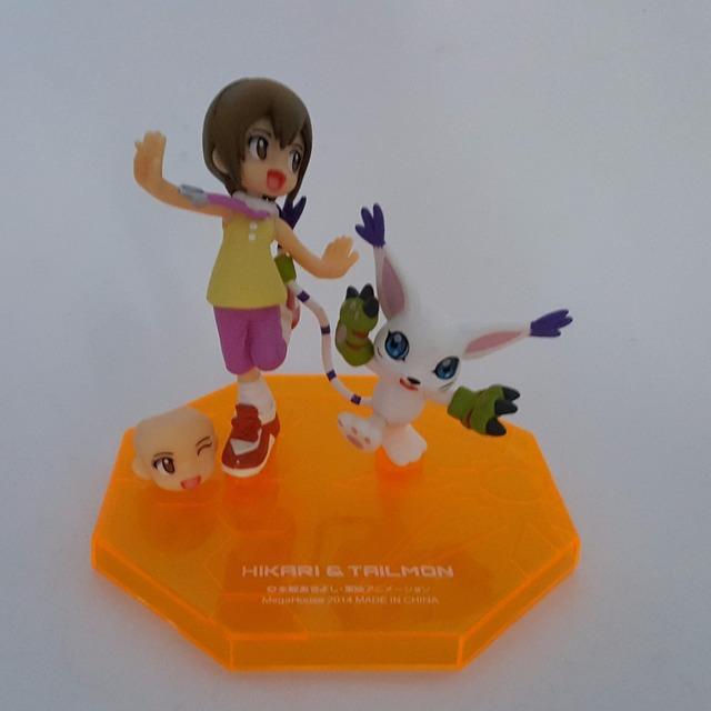 Digimon Tailmon Yagami Hikari Pvc Action Figures Model Toy 110mm Anime Digimon Adventure Tri Collectible Toy