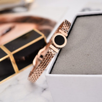 YUN RUO Elegant Natural Shell Tassel Stud Earring Female Woman Party Rose Gold Color Stainless Steel
