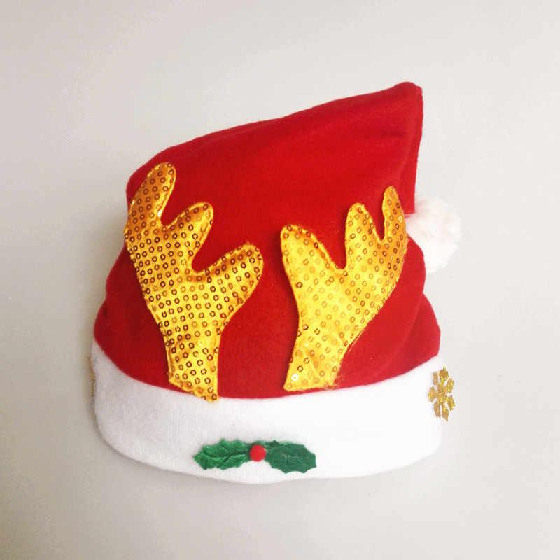 Mùa Đông 2018 Dép Nỉ Giáng Sinh Nón Đảng Mũ Bé Trai Và Bé Gái Thời Trang Màu Đỏ Dễ Thương Đáng Yêu Mũ 2019 Năm Mới Chúc Giáng Sinh trang Trí
