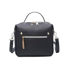 Fashion Zipper Women Bag High Quality Leather Women Top-handle Bag Small Size Messenger Bag