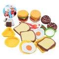 Nueva Llegada Desayuno Serie de Arcilla de Color Plastilina Juguete DIY Juguetes educativos para Bebés y Niños Niños Mejores Regalos de Entrega Al Azar