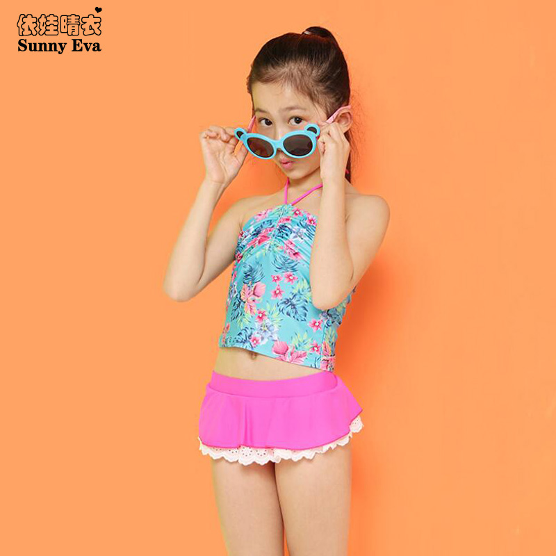 Sunny Eva Tankini Swimsuits Girls Two Piece Swimwear Bathing Suit For Children -8758